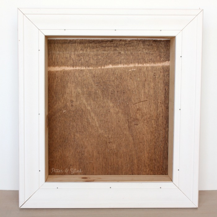 It's easy to build a shadowbox from scrap wood.  pitterandglink.com