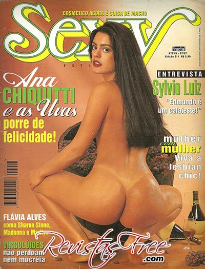 Ana Chiquitti - Revista Sexy Julho 1997