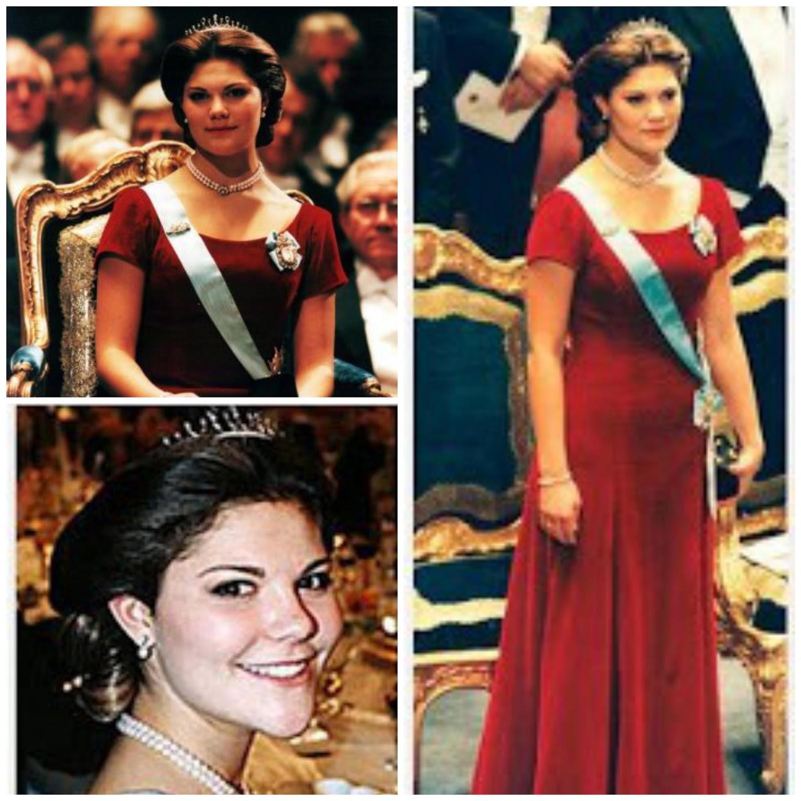 Im Jahr 1995 debütierte Kronprinzessin Victoria das erste mal bei der ...: koeniglichejuwelen.blogspot.com/2015/11/nobelpreisverleihungen-mit...