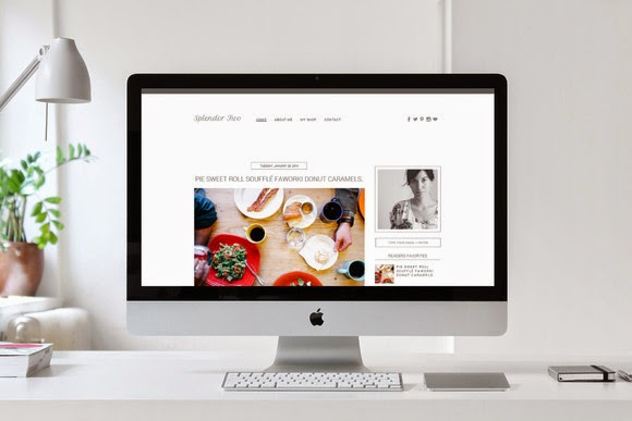 Premade Blogger Template Splendor 2
