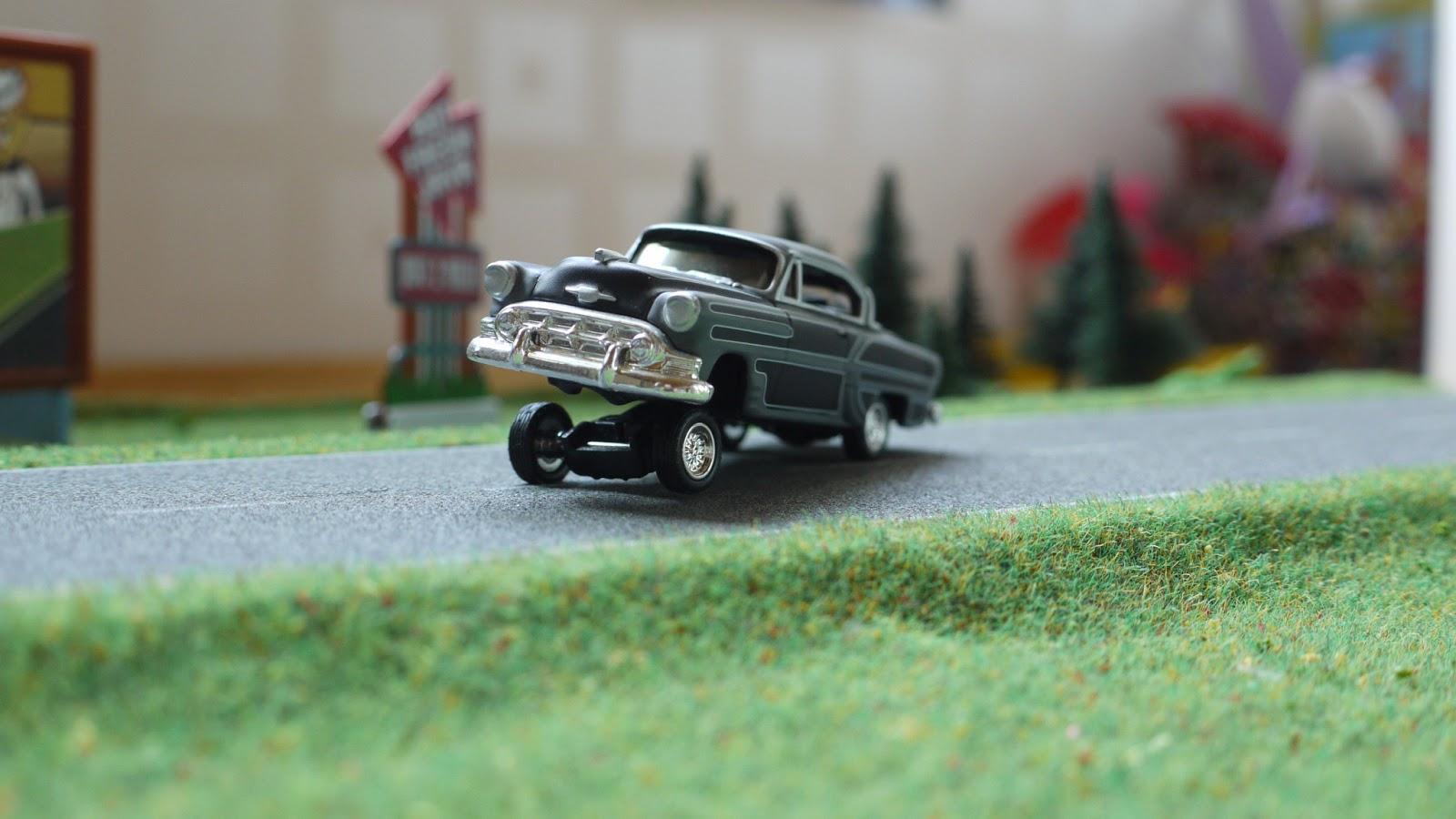 Diecast Cars 1 64 Modellautos 164 Modellbilar Chevrolet Bel 1954 Chevy Impala Lowrider Air Custom M2machines