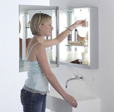 Bathroom Wall Light and Mirror, the 0360 Livorno cabinet light