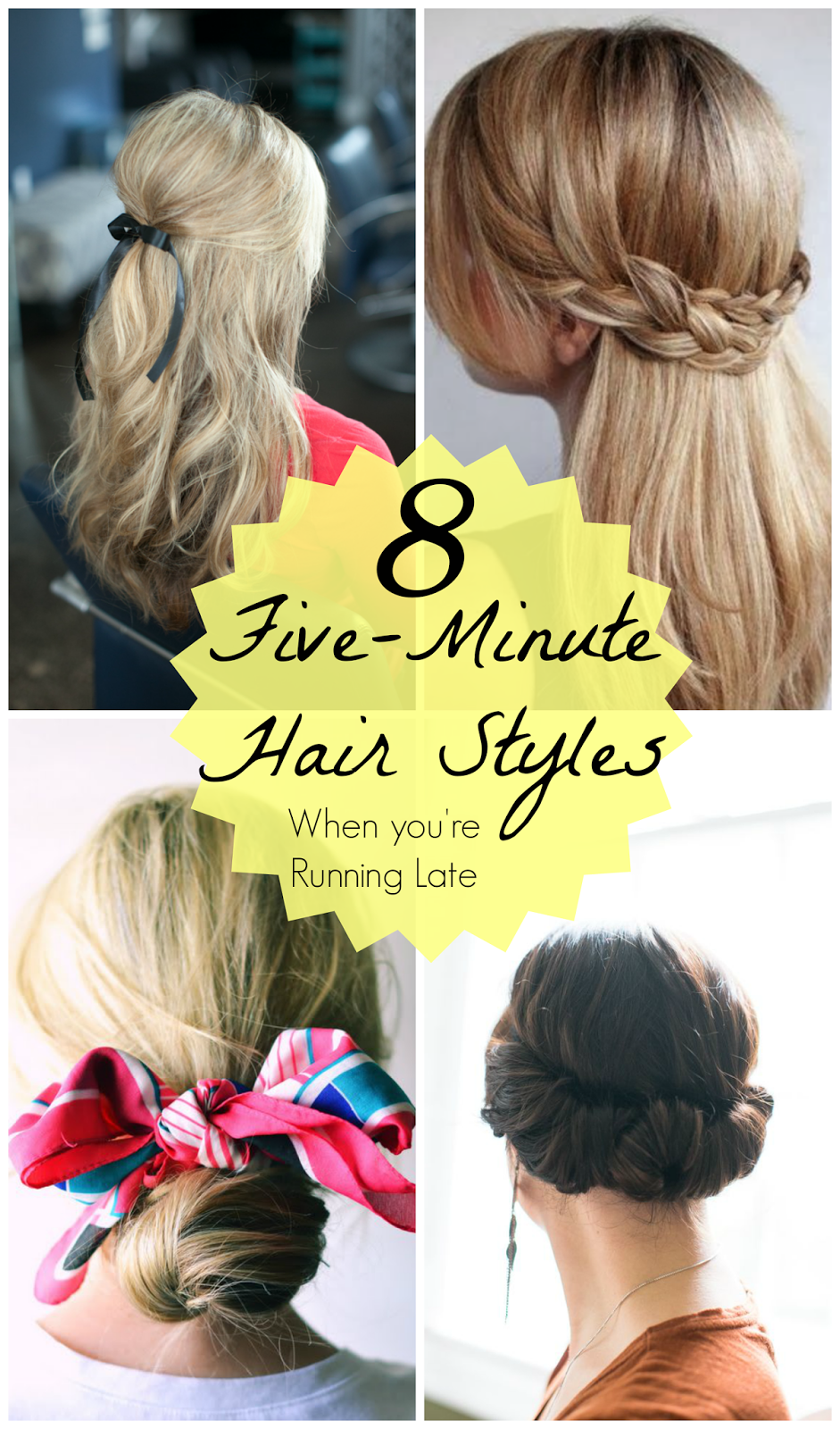 Simple  Hairstyles Try These Hairstyles That All Take Less Than Five Minutes