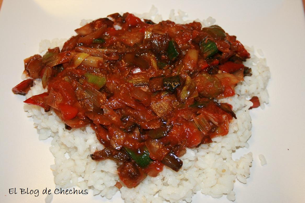 arroz, verduras, curry, el blog de chechus, elblogdechechus