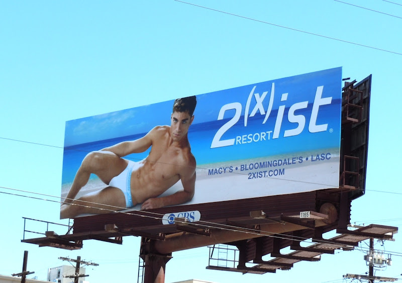 Andre Ziehe 2xist Resort underwear billboard