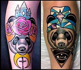 Melhores fotos Tatuagem de Panda