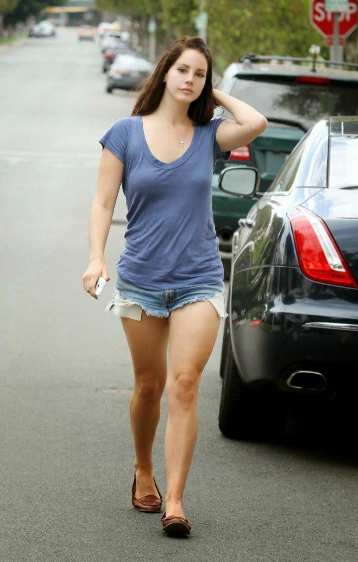 Lana Del Rey in Denim Shorts Photoshoot