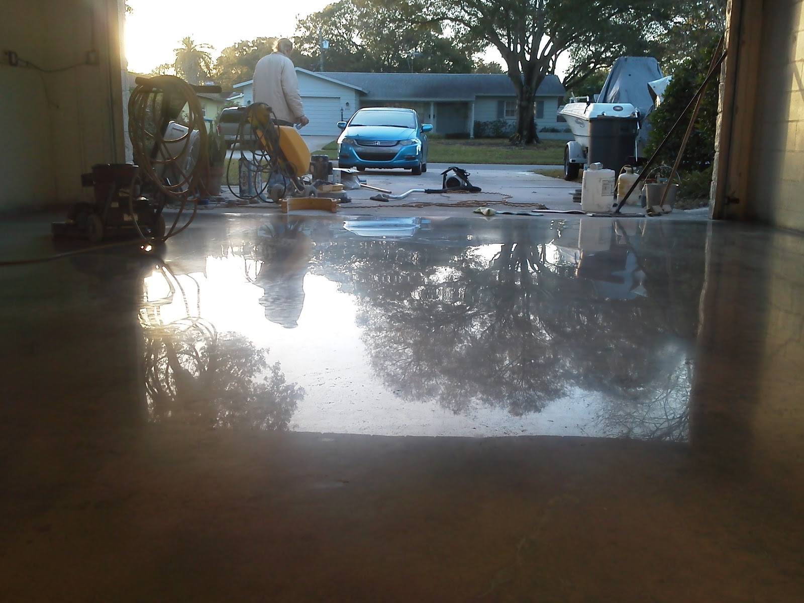 Tampa grout cleaning and floor cleaning experts st for How to clean sealed concrete floors