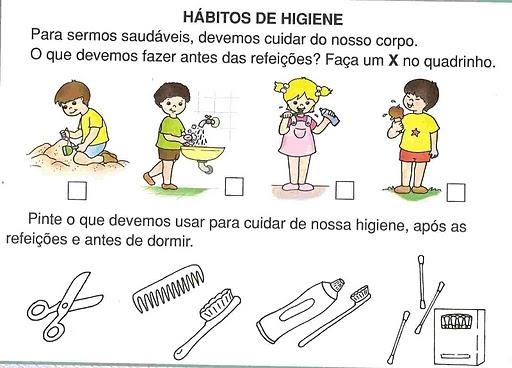 Projeto Higiene Educação Infantil e atividades