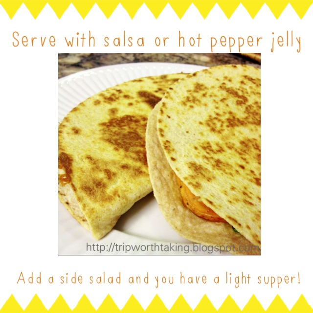 Sweet Potato Quesadillas from TripWorthTaking Blog