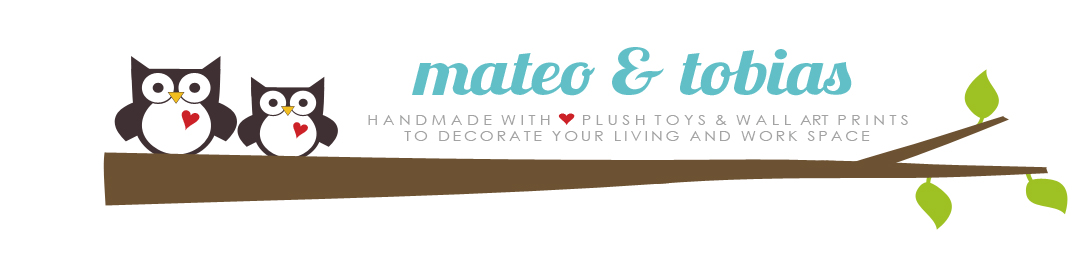 mateo &amp; tobias -  quality plush toys &amp; wall prints to decorate your living and work space