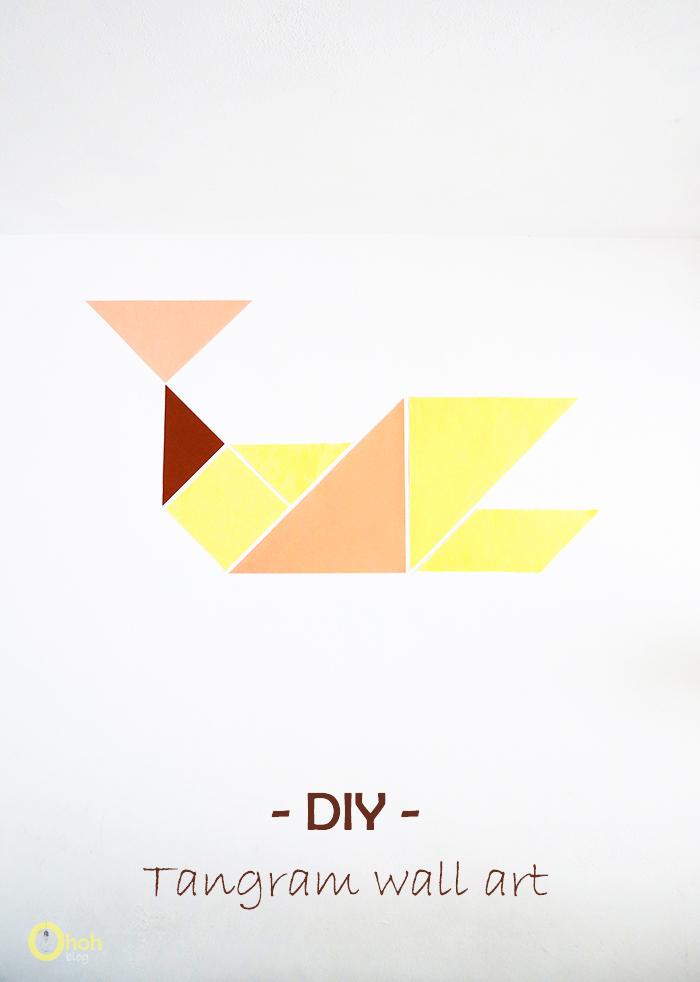 Easy tangram wall art