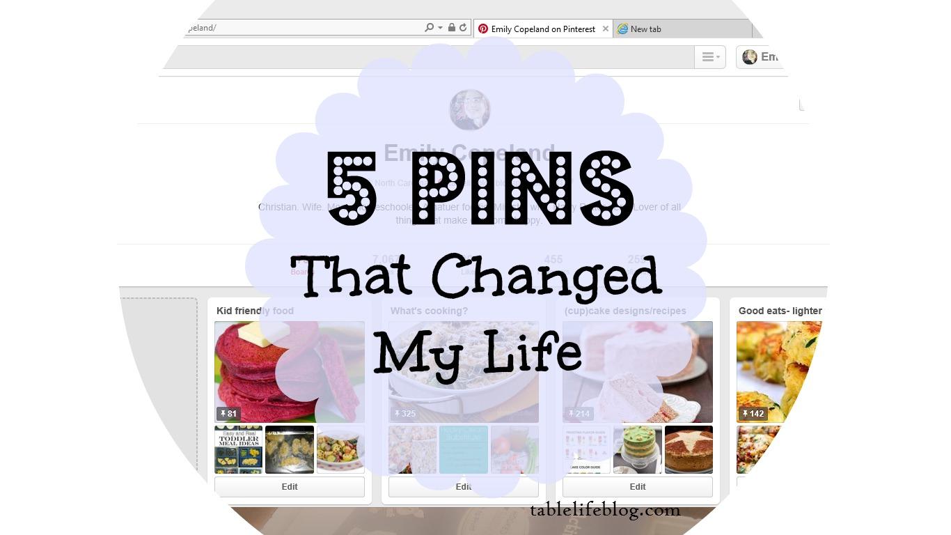 Top 5 favorite pins pinterest