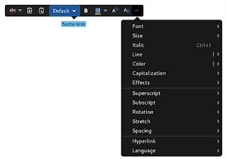 Barra de menús de LibreOffice