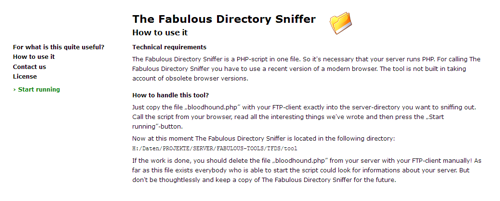 Screenshot The Fabulous Directory Sniffer