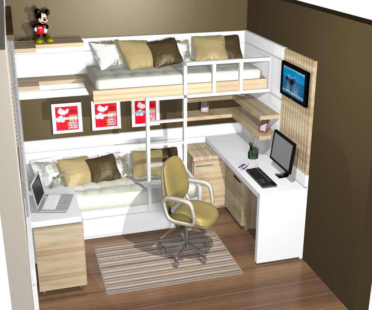 Danielle m ro design de interiores dicas para deixar seu for Dormitorio para quarto pequeno
