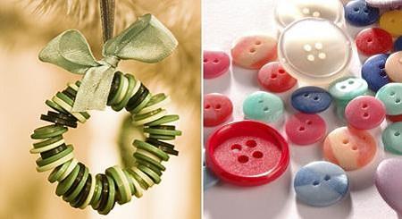 10 ideas de adornos de navidad con botones for Adornos faciles para navidad