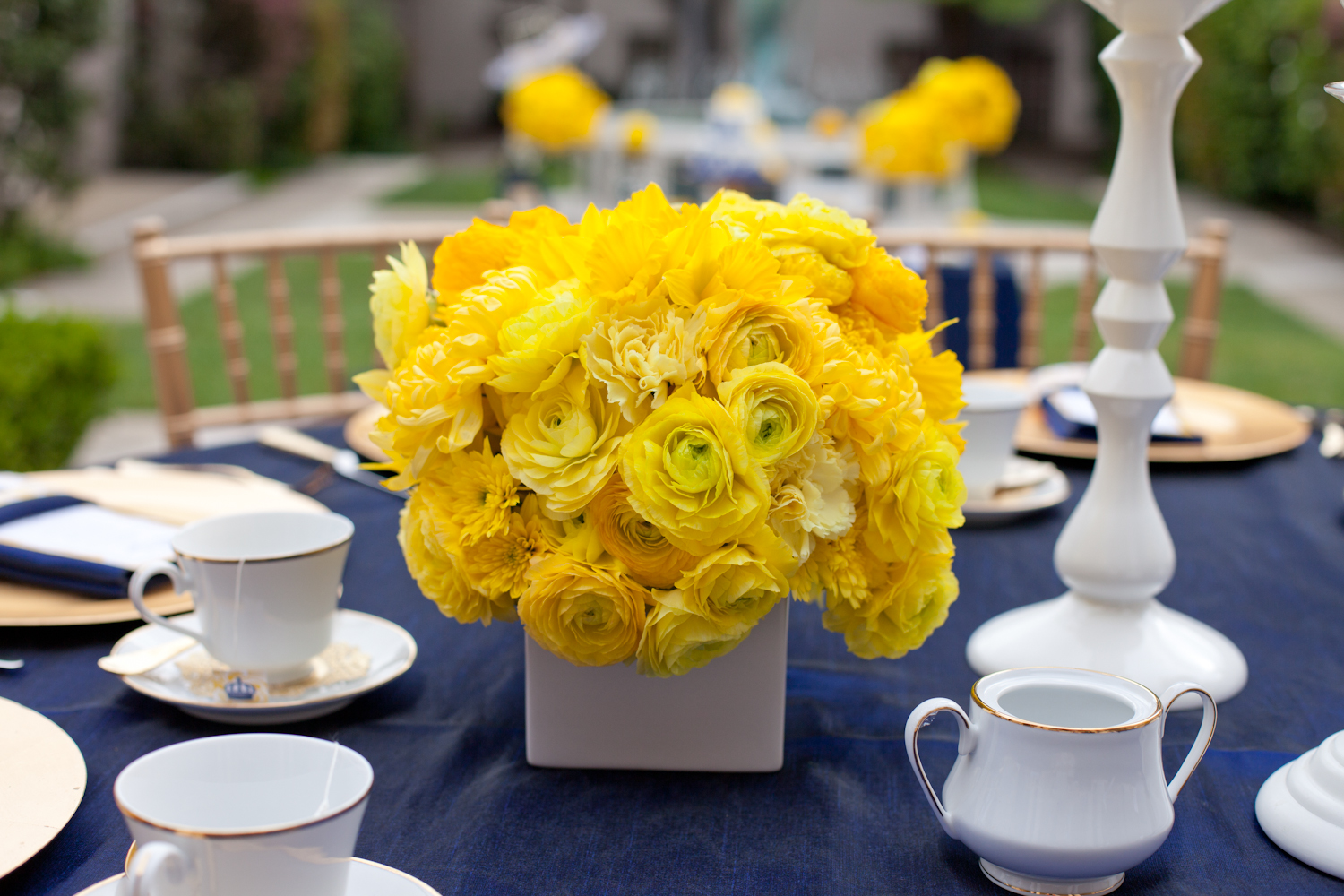 Royal wedding bridal shower yellow and blue
