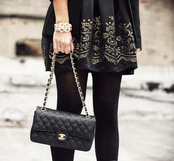 Black Colour Clutch