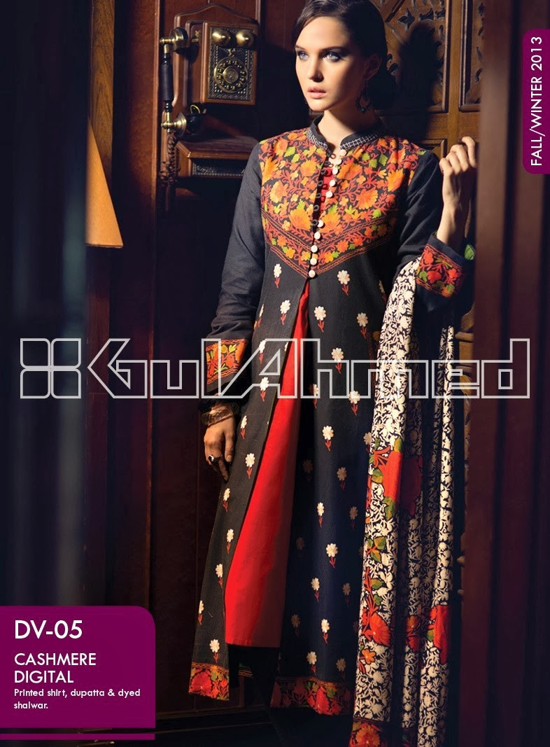 Fashion style Collection winter by gul ahmed for girls