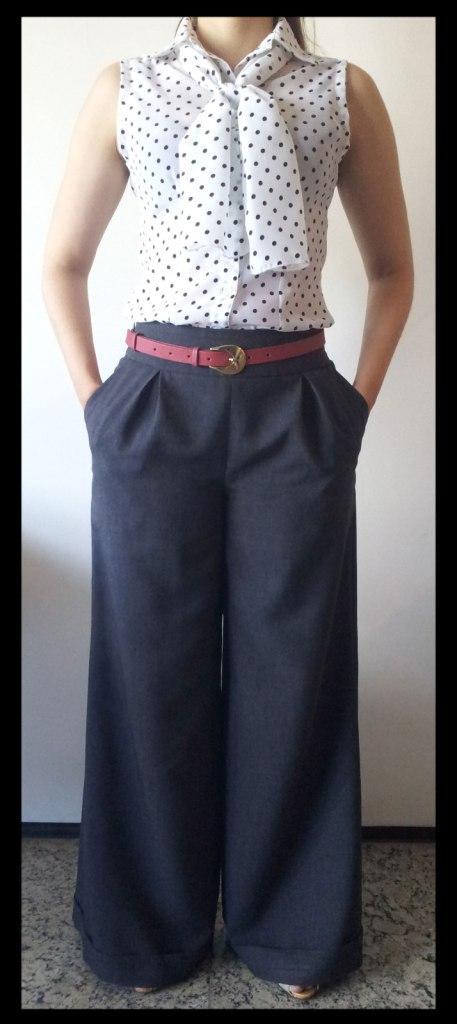 moda estilo costura moda pantalona camisa poás trabalho look do dia