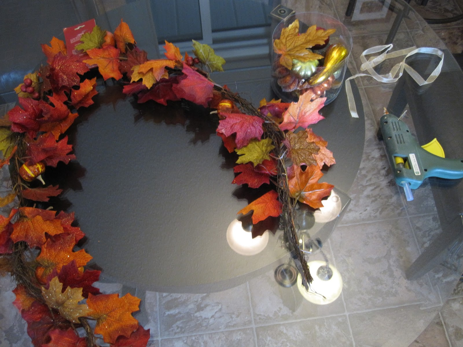 Flowers On The Roof DIY Fall Swag For Front Door