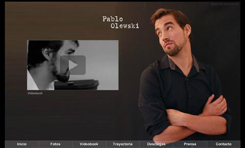 página web oficial del actor Pablo Olewski, diseñada por pepeworks