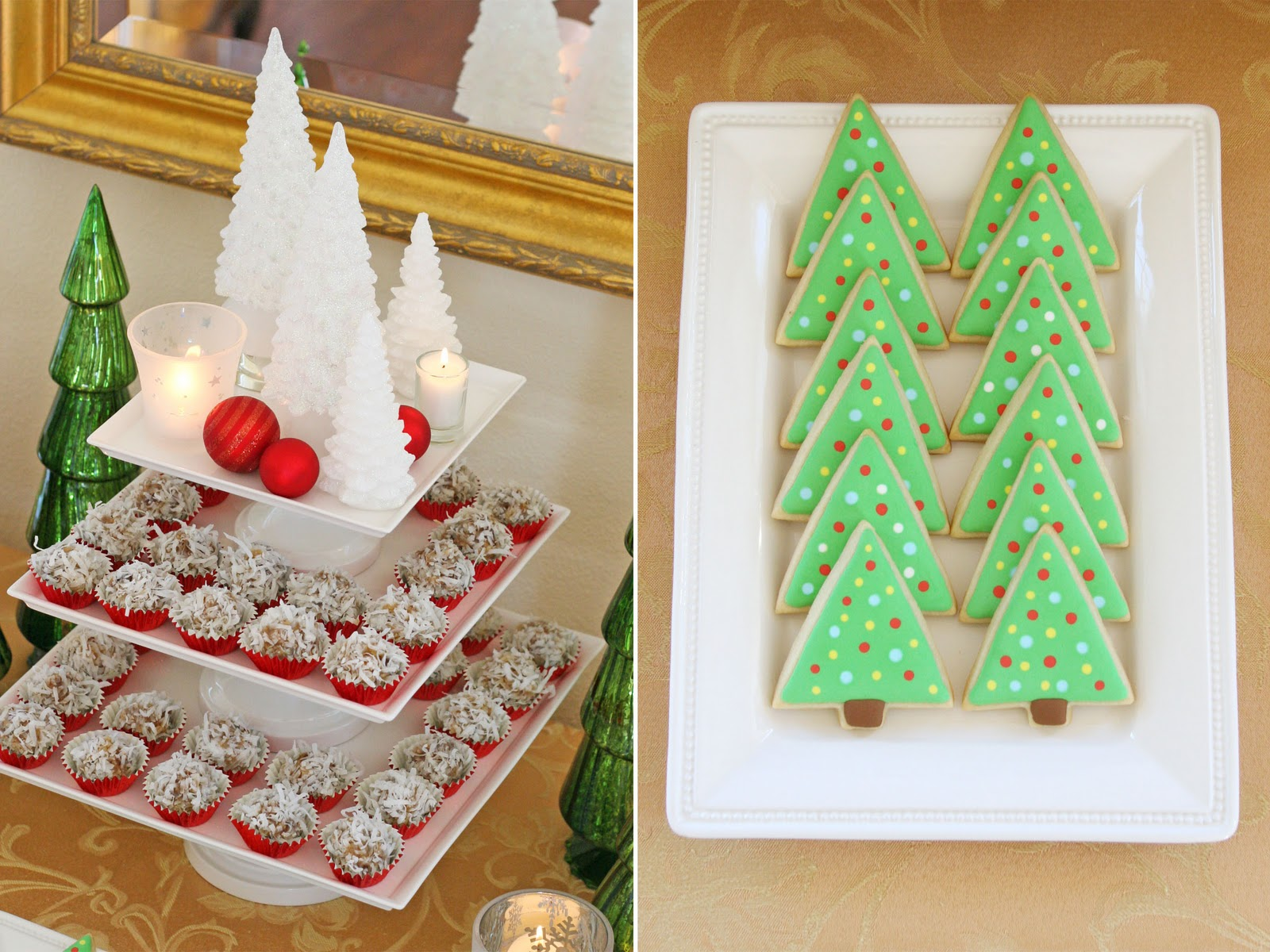 classic holiday dessert table glorious treats - Christmas Dessert Decorations