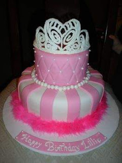 Girls Princess Birthday Cakes With Stunning Tiara