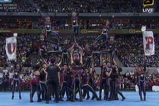 UAAP Cheerdance Competition 2013 - UP Pep Squad in their final pyramid