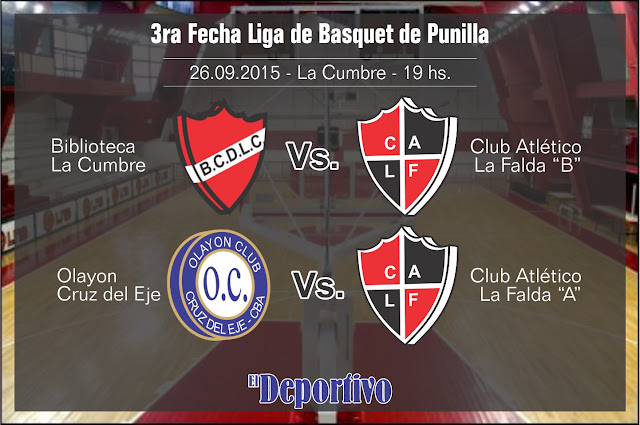 Tercera fecha del basquet en Punilla