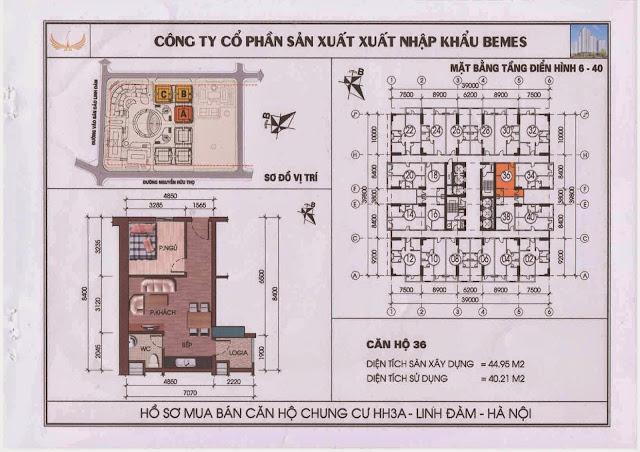 Căn hộ 36 - Chung Cư HH3A Linh Đàm