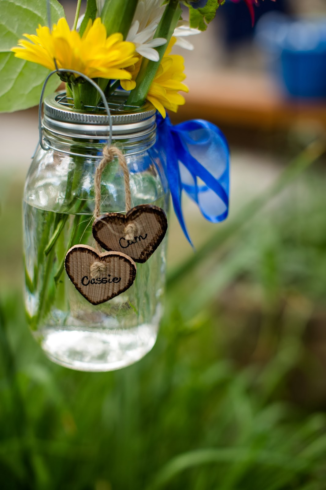 rustic mason jar wedding decor // Huong Forrest Photography // Take the Cake Event Planning
