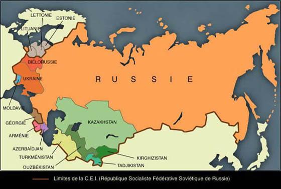 Carte Urss.Russie Urss Carte
