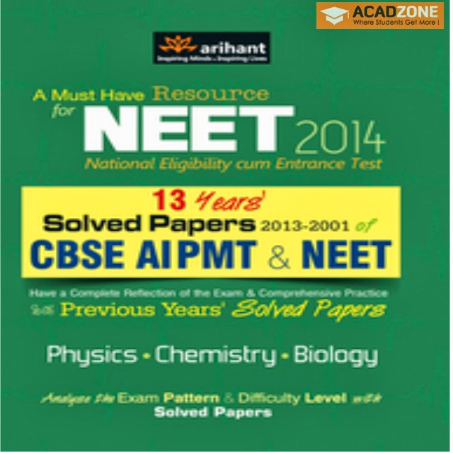 13 Years Solved Papers CBSE AIPMT and NEET Book Acadzone.com