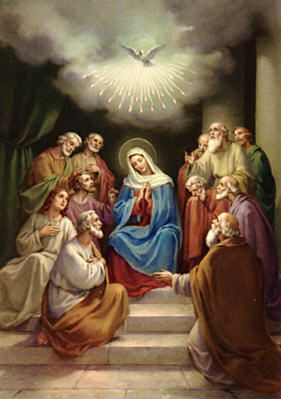 Image result for mary and the disciples in upper room
