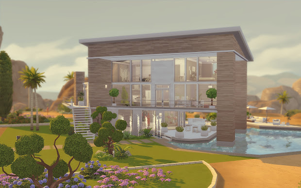 Modern House No CC Sims 4