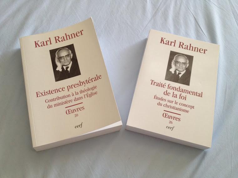 Na França também estão lançando as Obras Completas de Karl Rahner ! Eu comprei na Amazon.fr