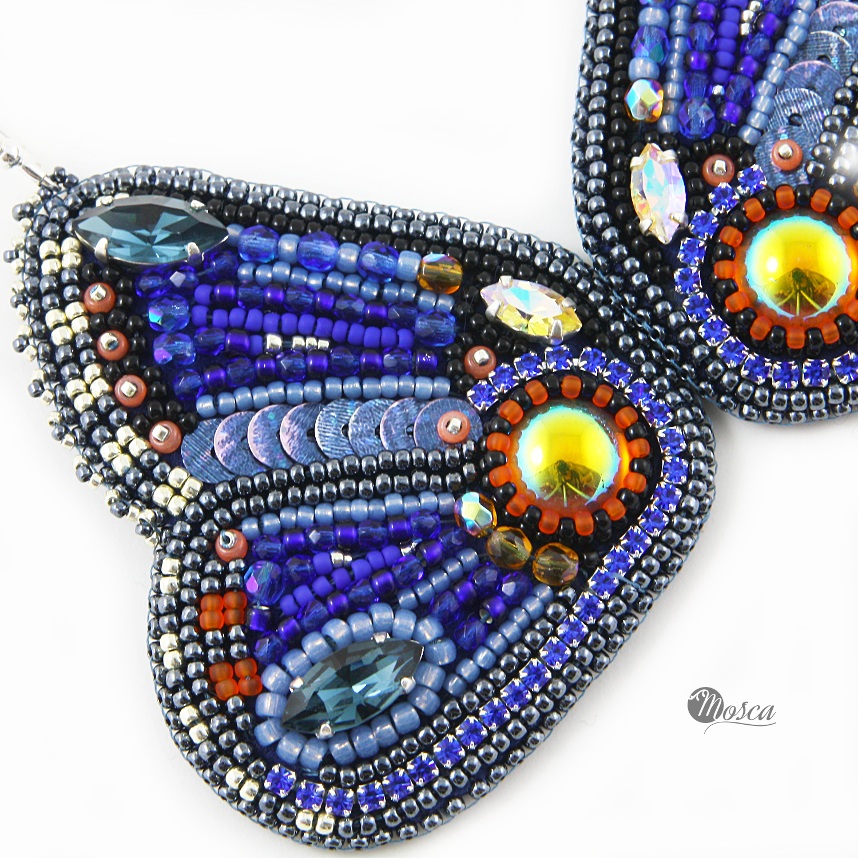 kolczyki haft koralikowy