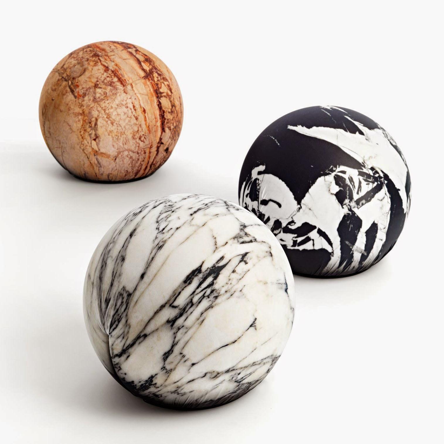 modern round poufs