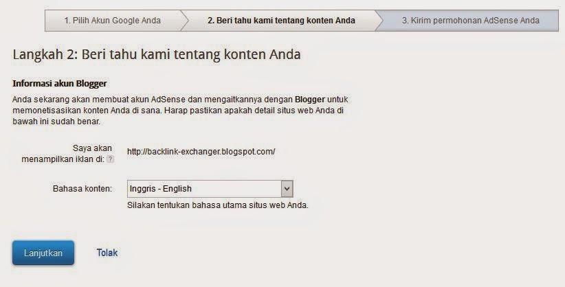 Tutorial Mendaftar Adsense Lewat Blog