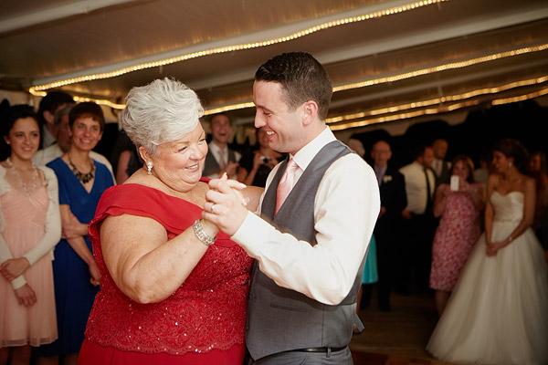 inn at woodstock hill wedding: mother son dance