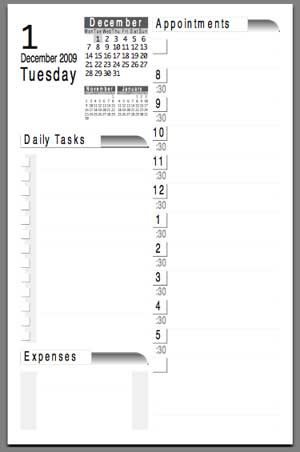All Templates Daily Calendar Template