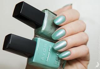 Avon Nailwear Pro+ Serene + Chilling Teal