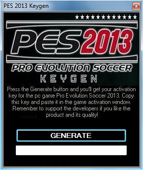 Pro Evolution Soccer 2013 (PES 2013) Activation Keys