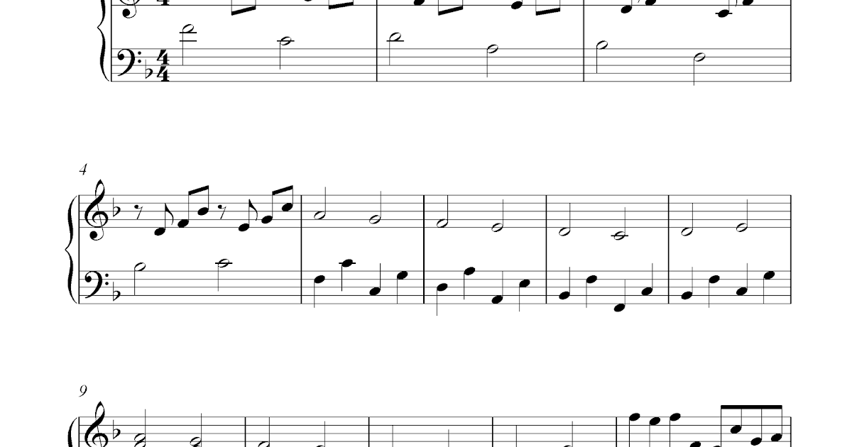 Canon In D by Pachelbel - Free piano sheet music
