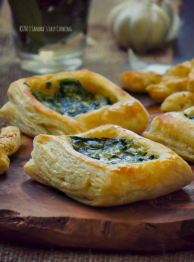 puff pastry with spinach and scallions in alfredo sauce Starbucks pastry recipe copycat