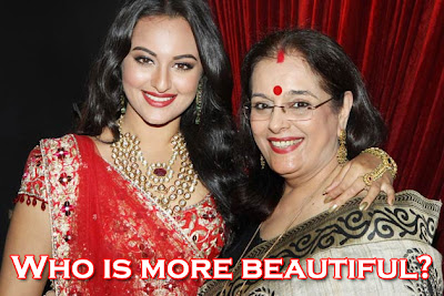 Sonakshi Sinha mother - beautiful lady in saree