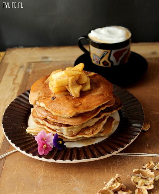 placuszki, pancakes, placuszki z gruszkami, pancakes with pears,