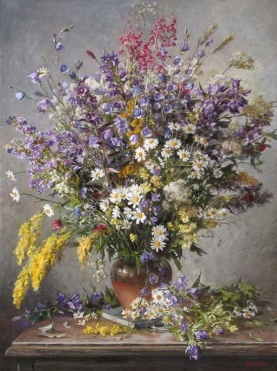 Im genes arte pinturas jarrones de flores cuadros decorativos for Jarrones decorativos para jardin